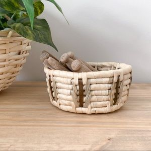 Small Round Woven Basket